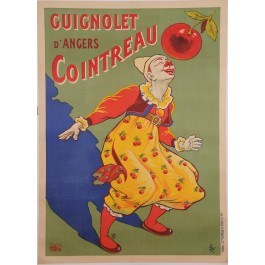 "Original Vintage French Alcohol Poster for ""Guignolet Cointreau"" by OGE 1907"