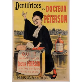 "Original Vintage French Poster for ""Dentifrices du Docteur Peterson"" by Oge 1897"