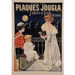 "Original Vintage French Poster for ""Plaques Jougla"" Cameras by Misti 1902"