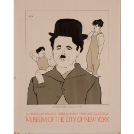 "Original Vintage Poster ""Drawings by William Auerbach-Levy"" Charles Chaplin"