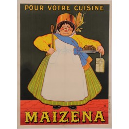 "Original Vintage French Poster for ""Maizena"" Corn Starch by Oge ca. 1900"