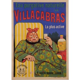 "Original Vintage French Poster for ""Villacabras - Eau Purgative Naturelle"" by Oge ca. 1907"