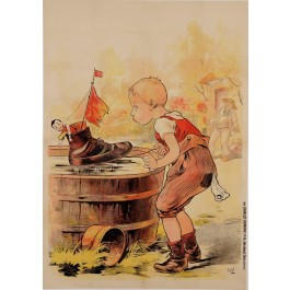 Original Vintage French Children BEFORE LETTERS Poster by Oge ca. 1895