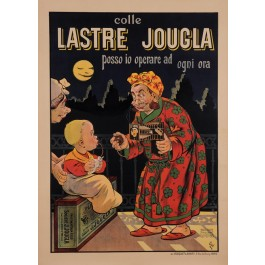 "Original Vintage Italian Poster for ""Lastre Jougla"" Plaques Cameras Plates by Oge ca. 1909"
