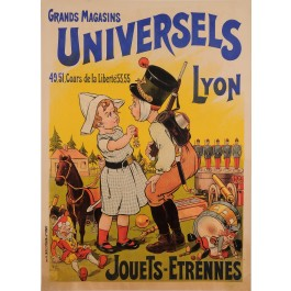 "Original Vintage French  Children Poster for ""Universels Lyon"" by Oge ca. 1903"