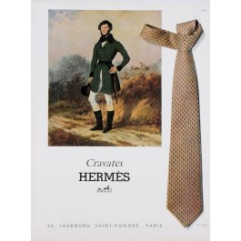 French Magazine Print for Hermes Cravates 1961