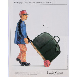 French Magazine Print Les Bagages Louis Vuitton ca. 1950