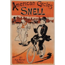 "Original Vintage French Poster ""American Cycles Snell"" Oge ca. 1900"