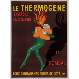 """Original Vintage French Poster for """"Il Thermgene"""" balm by Cappiello 1950's"""