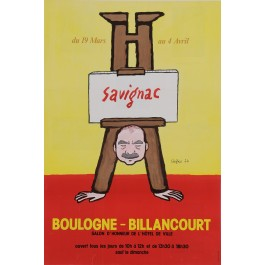 "Original Vintage French Poster for ""Savignac a Boulogne-Billancourt"" 1974"