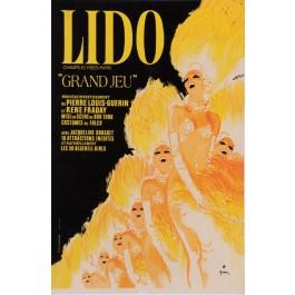 "Original Vintage French Poster for ""Lido"" Cabaret by Rene Gruau 1970's"