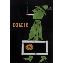"Original French Poster Advertising ""Cigarettes Collie"" by Savignac 1952"