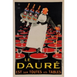 "Reprint Vintage French Alcohol Poster ""Le Daure Aperitif"" by Lotti 1980's"