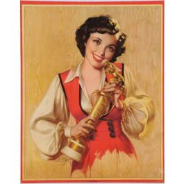 "Original Vintage American Poster ""Nice Going"" Pin Up Girl by Zoë Mozert"