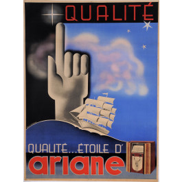 """Original Vintage French Poster for """"Qualite...Etoile d'ARIANE"""" by De Loddere"""