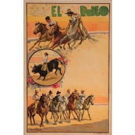 "Original Vintage Spanish Poster for ""EL RODEO"" by Carlos Ruanos Llopis ca. 1940"