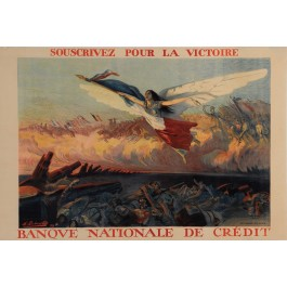 "Original Vintage French Poster for ""Banque Nationale de Crédit"" by Richard-Gutz"