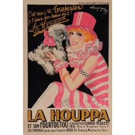 "Original Vintage French Entertainment Poster Advertising ""La Houppa"" 1926"
