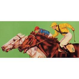 Original Vintage Poster Advertising Horse Racing BEFORE LETTERS