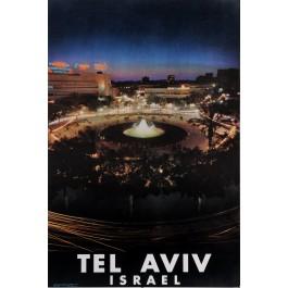 "Original Vintage Israeli Poster ""Tel Aviv"" 1960s-70s"