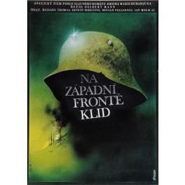 """Original Vintage Czech Movie Poster """"NA ZAPADNI FRONTE KLID"""" by Vlach 1979"""