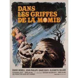 """Original Vintage French Movie Poster for """"DANS LES GRIFFES DE LA MOMIE"""" by BORIS GRINSSON 1967"""