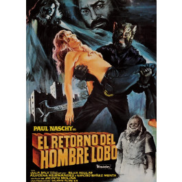 "Original Vintage French Movie Poster for ""El Retorno del Hombre Lobo (Moon of the Wolf)"" 1981"