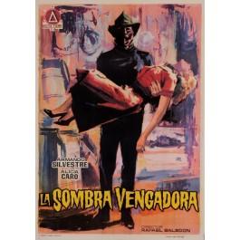 "Original Vintage Spanish Movie Poster for ""LA SOMBRA VENGADORA"" by JANO 1962"