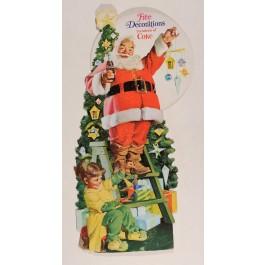 """Original Vintage American Christmas Poster """"Coca Cola"""" Santa Claus"""