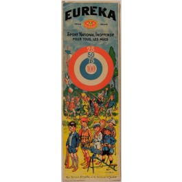 "Original Vintage French Children Poster for ""EUREKA - Sport National Inoffensif"" Signed ca. 1930"