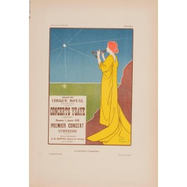 "Les Affiches Etrangeres ""Concerts Ysaye"" Stone Lithograph by Meunier - 1897-99"