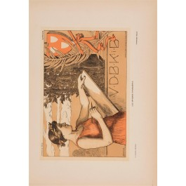 "Les Affiches Etrangeres ""VDBKB"" Stone Lithograph by Orlik - 1897-99"