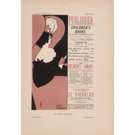 "Les Affiches Etrangeres ""Publisher"" Stone Lithograph by Aubrey Beardsley - 1897-99"