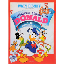 "Original Vintage Movie Poster ""La Fabuleuse Histoire de Donald"" Duck Disney"