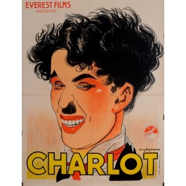 "Original Charlie Chaplin Movie Poster ""Affiche Passe-Partout"" by Leymarie 1918"