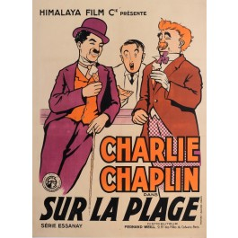 "Original Charlie Chaplin Movie Poster ""Sur La Plage (By the Sea)"" by Roberty"