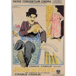 Original Charlie Chaplin French Movie Poster Jourde Paye (Pay Back)