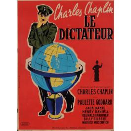 Original Charlie Chaplin French  Movie Poster La Dictateur