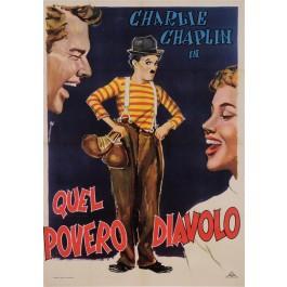 Original Charlie Chaplin Italian Movie Quel Povero Diavolo