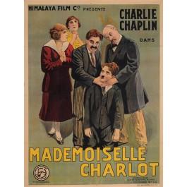 "Original Charlie Chaplin French Movie Poster ""Mademoiselle Charlot"" 1915"