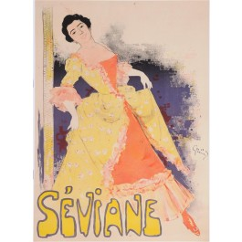 "Original Vintage French Poster ""Seviane"" by Grun Before 1896"