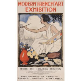 "Original Vintage French Poster ""Modern-French-Art Exhibition"" by Grun 1923"