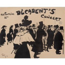 "Original Vintage French Poster ""Decadent's Concert"" by Grun 1893/1894"