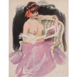 "Original Vintage French Poster ""L'Album""  by Grun ca. 1900"
