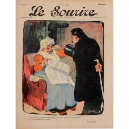 "Original Vintage French Poster for ""Le Sourire"" Magazine by Grun - December 1901"
