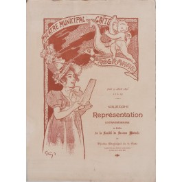"Original Vintage French Poster ""Theatre Municipal de la Gaite"" Program by Grun 1892"