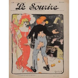 """Original Vintage French Poster for """"Le Sourire"""" Magazine by Grun - April 1902"""