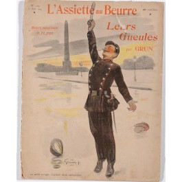 "Original Vintage French Collection of Lithographs ""L'Assiette au Beurre"" by Grun 1903"