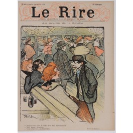 """Set of 3 Original Vintage French Poster for """"Le Rire"""" Magazine by Steinlen ca. 1895"""