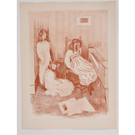 "Original French Lithograph ONLY L'Estampe Moderne N.18 ""Bouderie"" by A. MULLER"